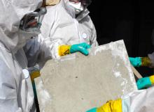 asbestos on panel